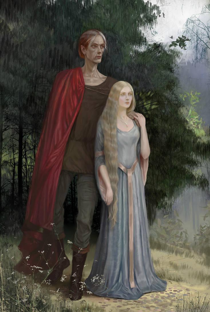 Maedhros and Galadriel by BellaBergolts