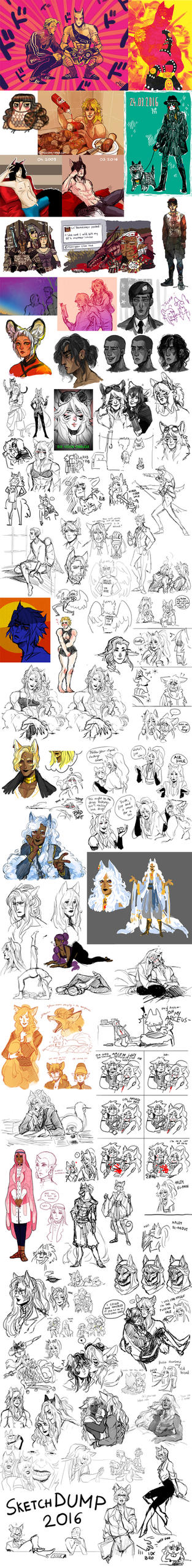 Mess Of A Sketchdump by lordmegi