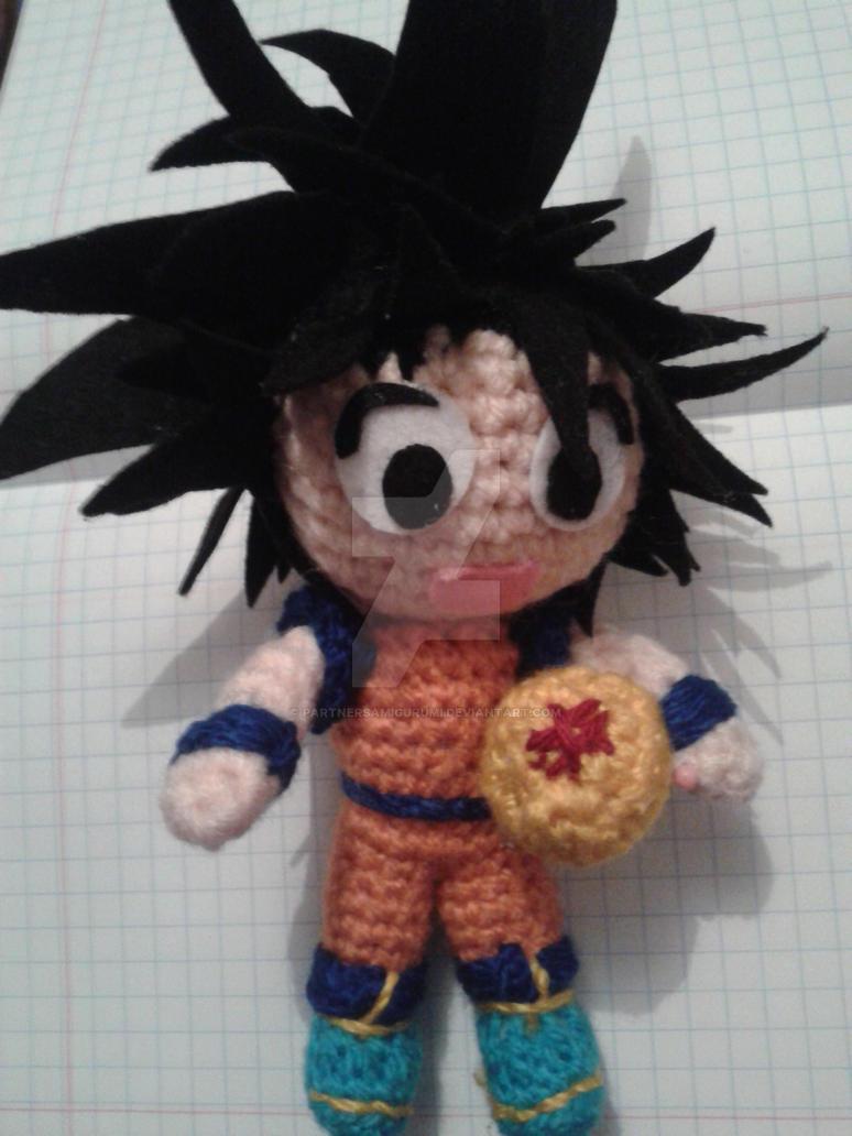 Close Amigurumi Ball : Dragon Ball Z Goku amigurumi by partnersamigurumi on ...