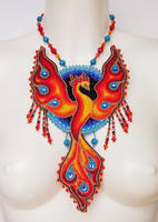 Bead embroidery necklace 11 - Phoenix