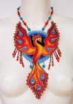 Bead embroidery necklace 11 - Phoenix