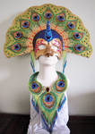 Bead embroidery necklace and mask