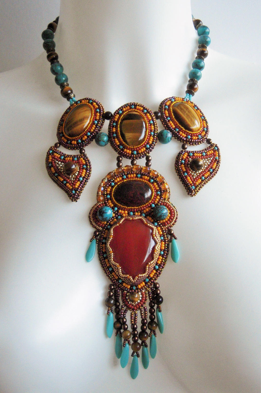 Bead Embroidery Necklace 21 By Priscillascreations On Deviantart
