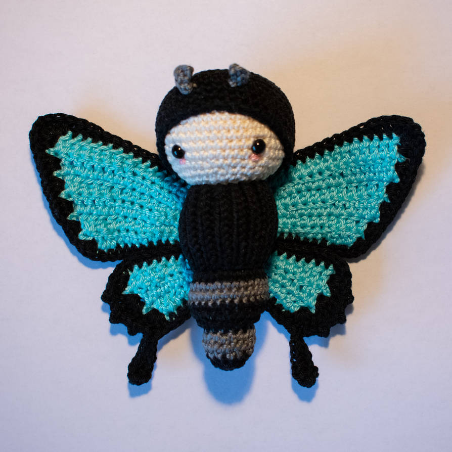 AMIGURUMI ULYSSES BUTTERFLY by Priscillascreations