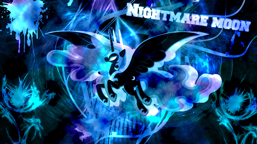 nightmare moon by JoshiePup