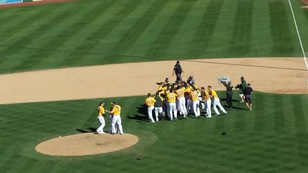 the Oakland Athletics win!!!