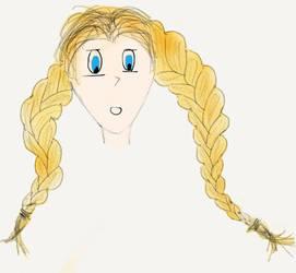 Yellow braided girl