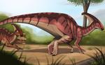 Dinovember # - 8 Parasaurolophus