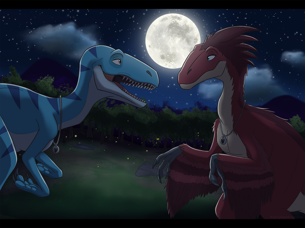 Night of the Utahraptors by MightyRaptor
