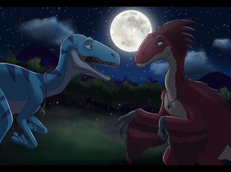 Night of the Utahraptors by MightyRaptor