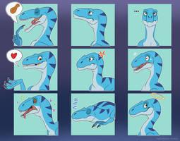 Utahraptor Rick Emotes