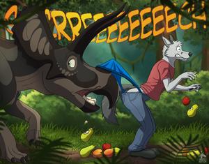 Wolf Wedgies: Horn Peek