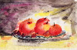 red fruits in plate by coolstrator