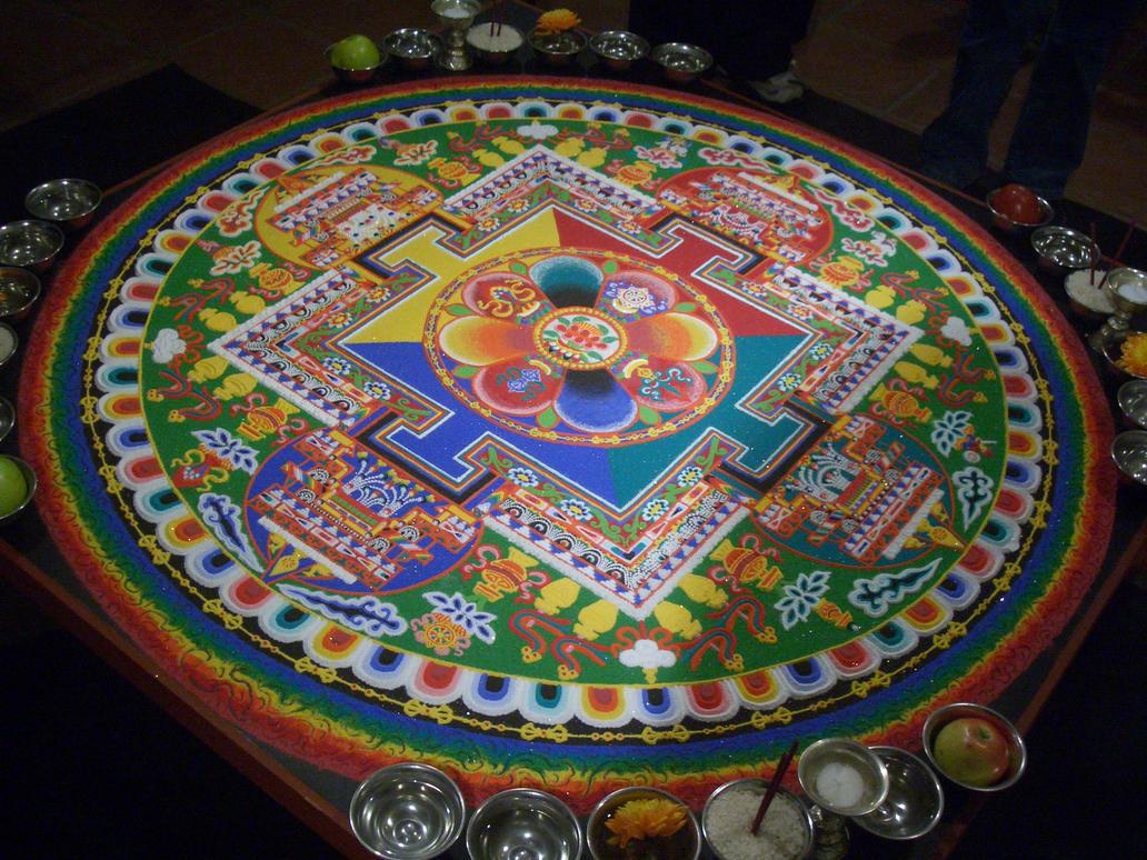 Chenrezig Sand Mandala by TomWells