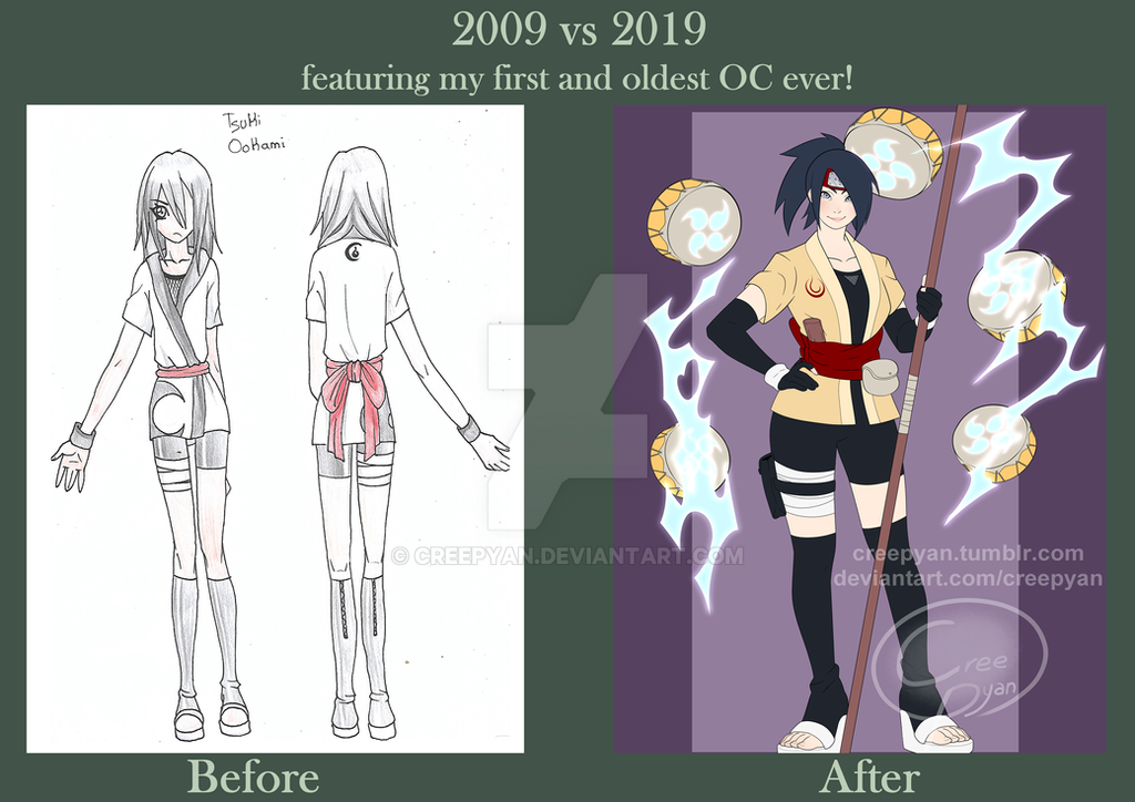 Draw this again! 2009 vs 2019 by Creepyan