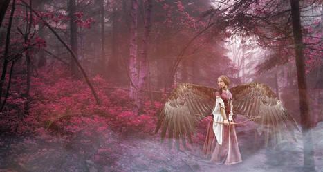 winged archer by LadyMechanikx