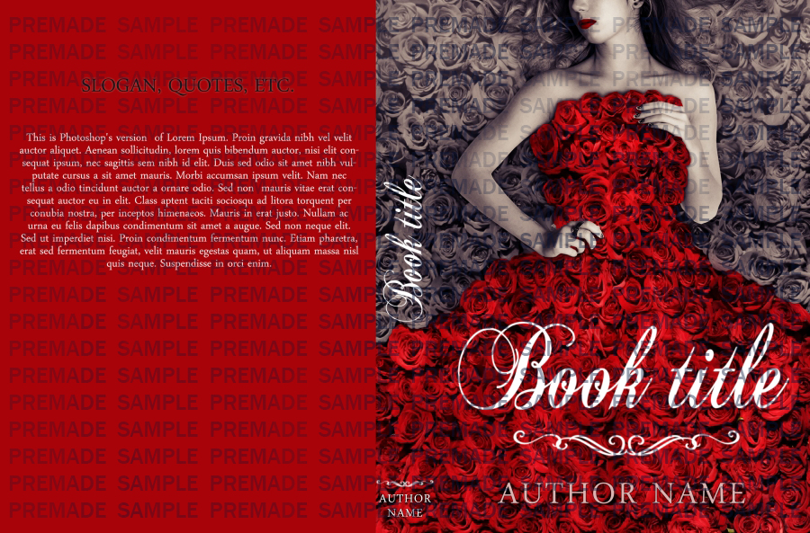 Book Cover Forros S : Premade book cover rose lady by evitart on deviantart