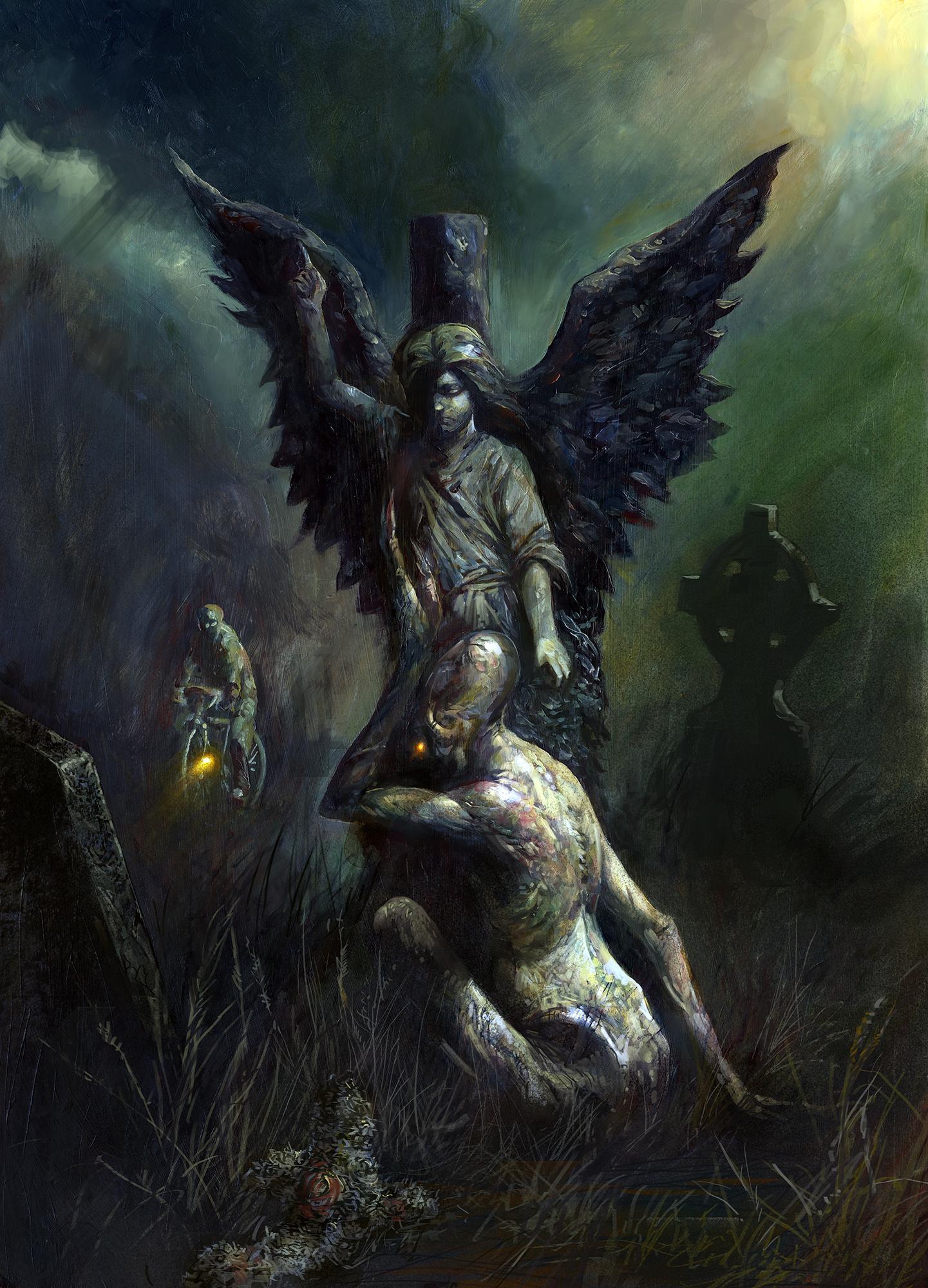 Black Minotaur Painting