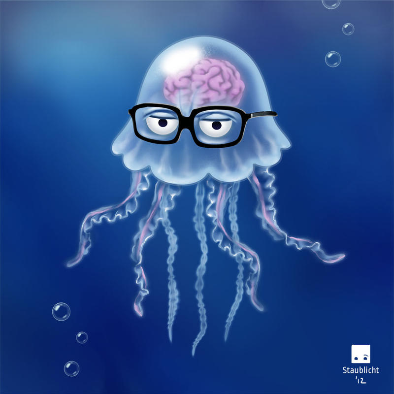 """Smart Jellyfish"", game character by Staublicht"