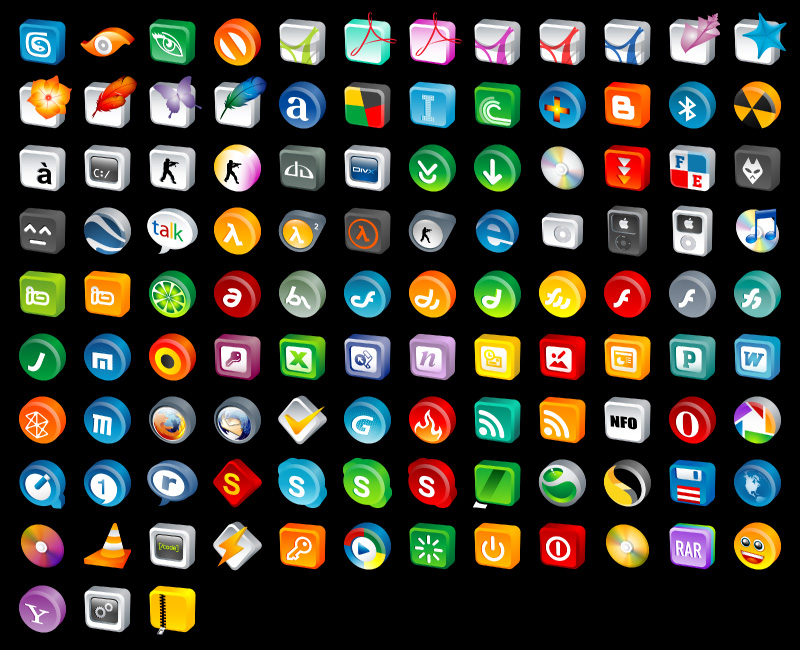 3D Cartoon Icons Pack