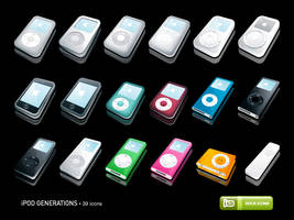 iPod Generations Icons by deleket