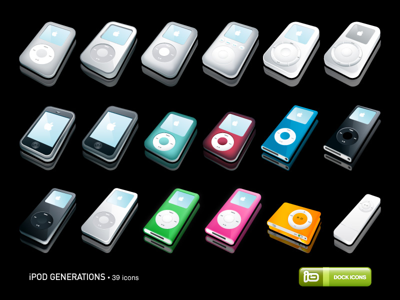 Ipod Generations Icons By Deleket On Deviantart