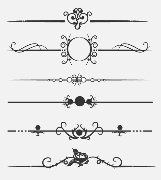 Calligraphic dividers by andra on deviantart