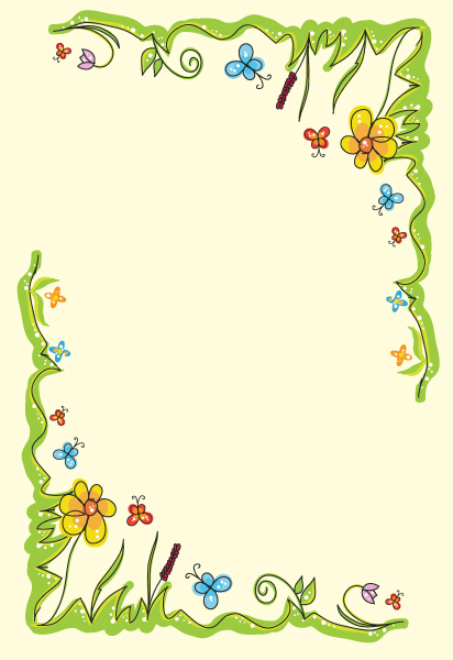 vector spring floral frame by andra04 on DeviantArt