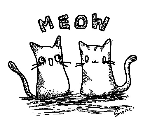MEOW by snorasaurus