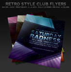 Retro Style Club Flyers