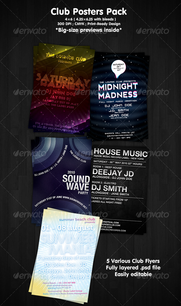 Club Flyers Pack by ibRC
