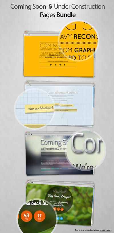 Coming Soon and Under Construction Pages Pack