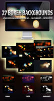 27 Bokeh Backgrounds Set