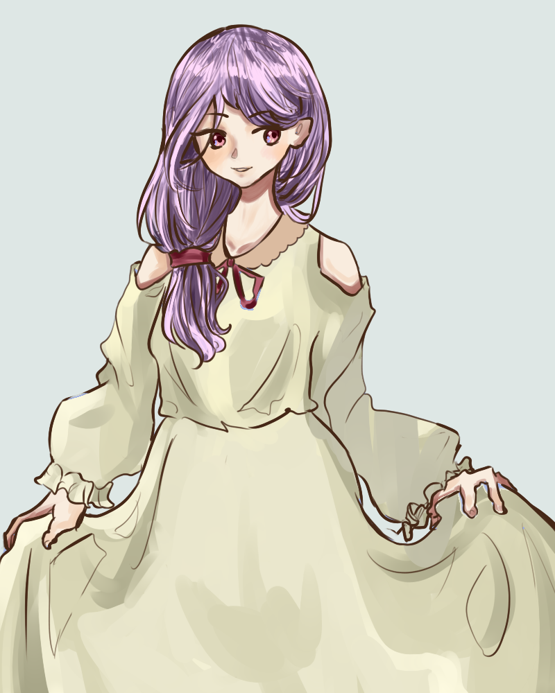 Girl with purple hair :^ by tralalala2