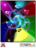 7 - Chaos emeralds by Diamond-ME