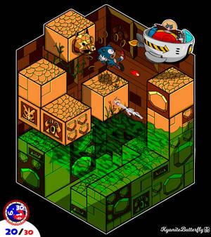 20. Labyrinth zone battle illustration