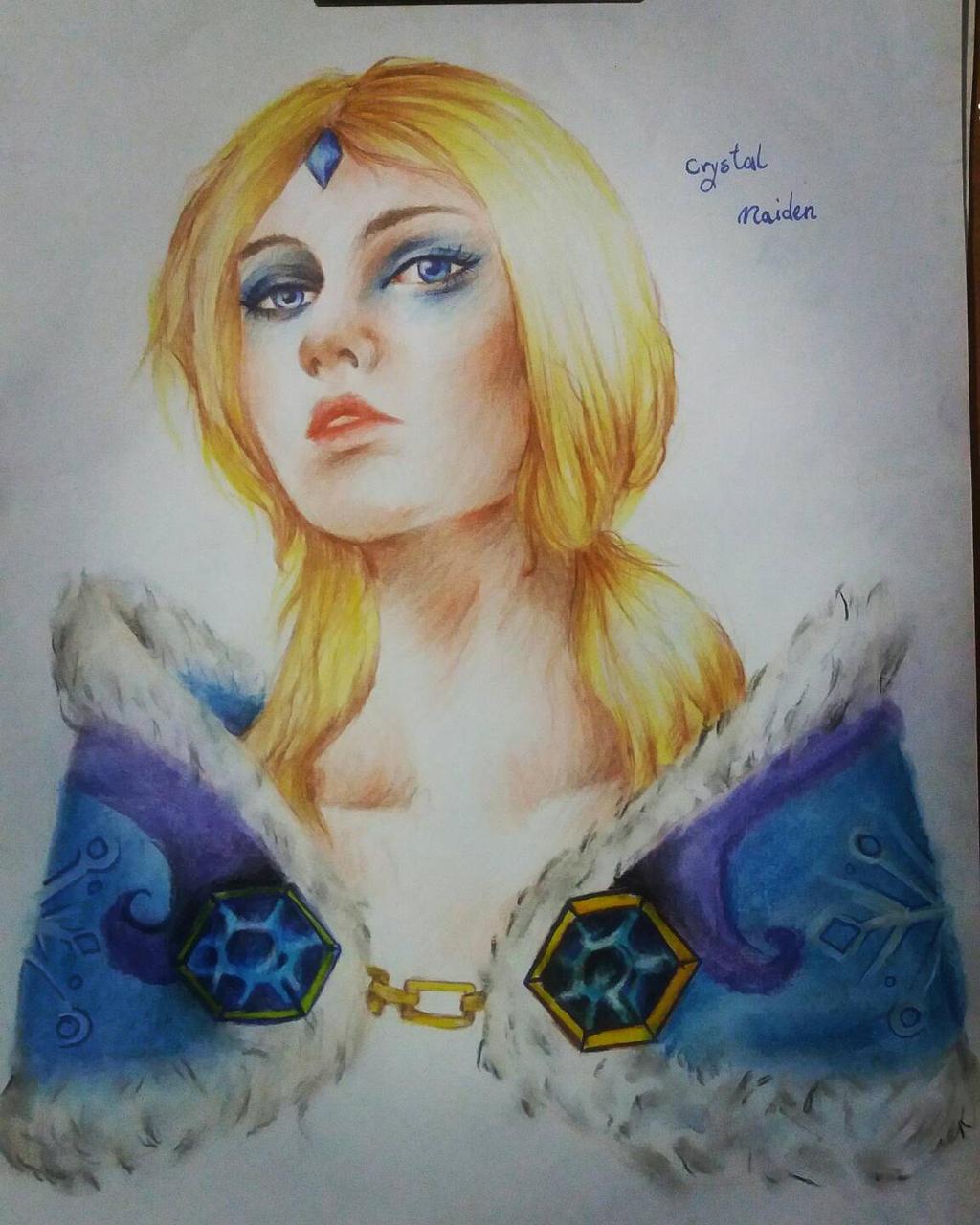 dota 2 crystal maiden by mahla shatter on deviantart