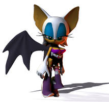 Rogue The Bat With Clothes V2 by imago3d