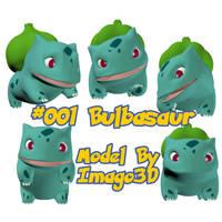 001 Bulbasaur by imago3d