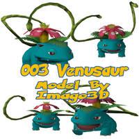 003 Venusaur by imago3d
