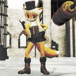 Steam Punk Anime Fox Old Pictureish