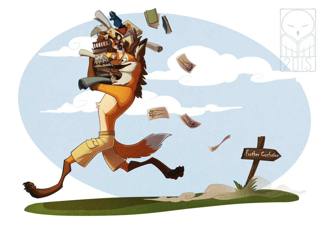 CO: The maned wolf with the pile of arts by TheTundraGhost