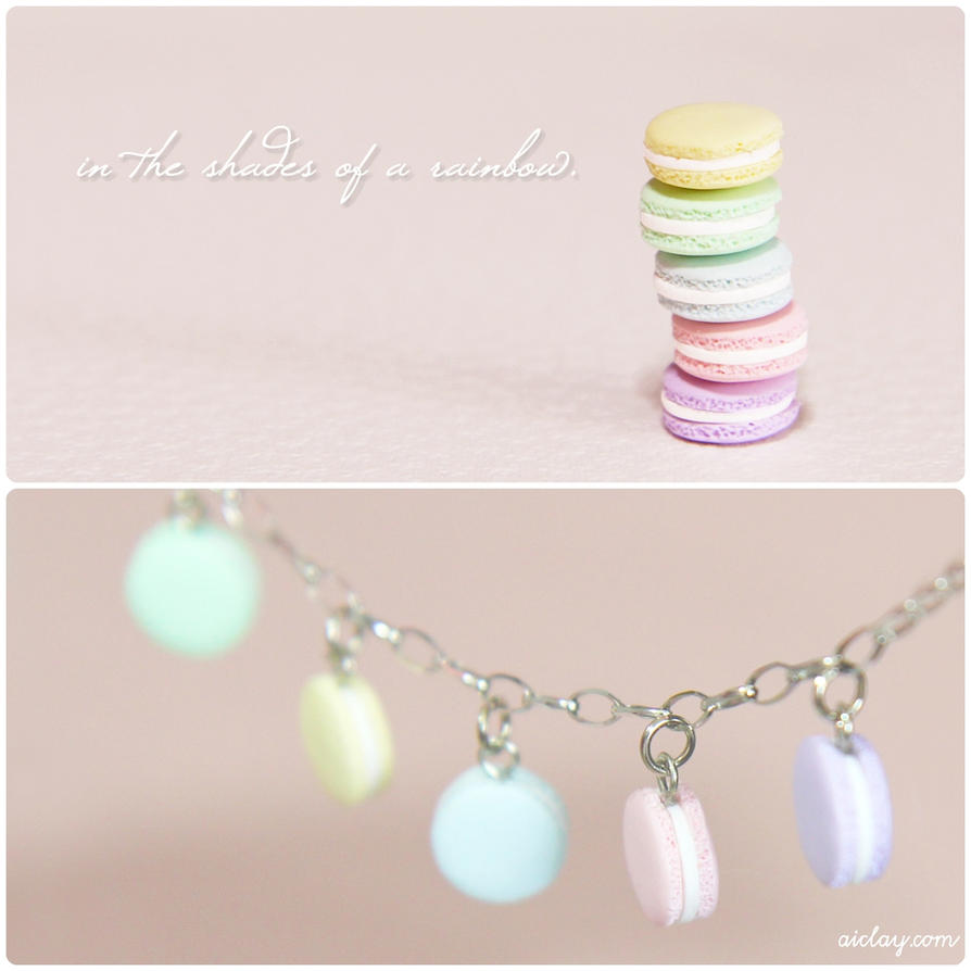 Shades of a pastel rainbow - macaron charms. by Aiclay