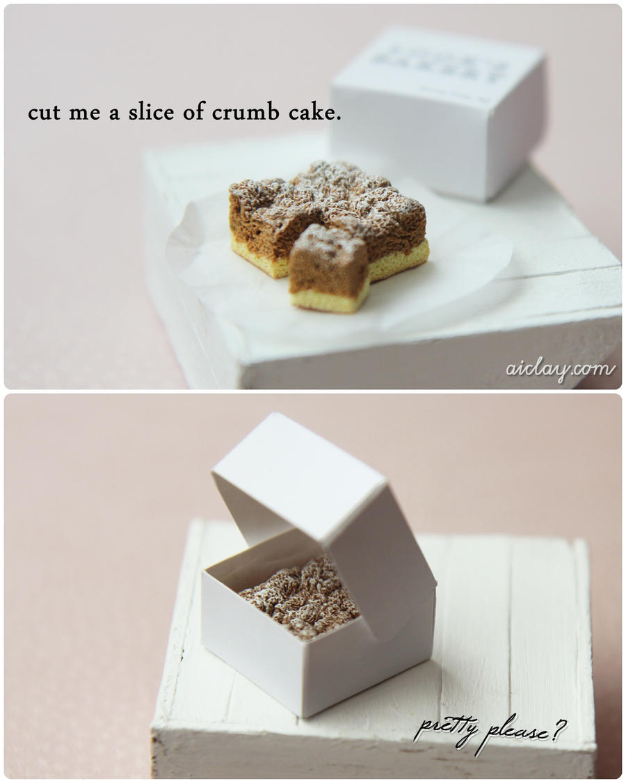 Crumb cake is crumbly. by Aiclay