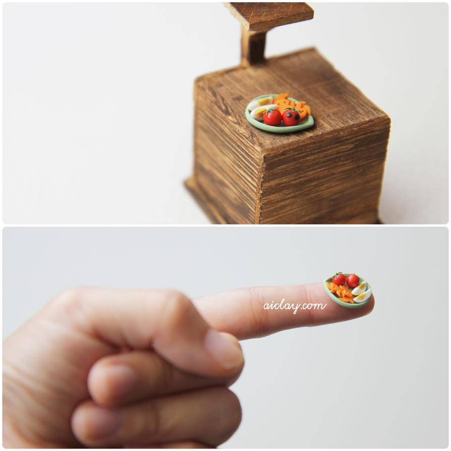 Step One of making a miniature bento. by Aiclay