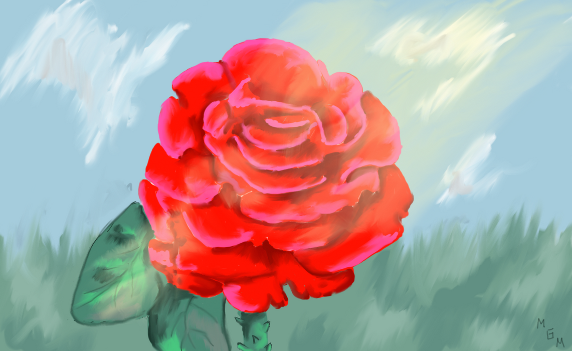 Rose w/ Background by Gottheart