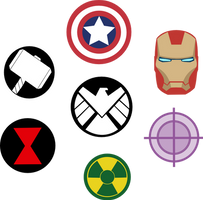 Marvel Avengers Symbols by Captain-Connor