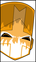 Castle Crashers Orange knight by Captain-Connor