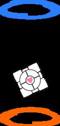 Companion Cube Portal by Captain-Connor