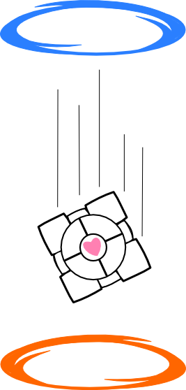 Companion Cube Portal by Captain-Connor